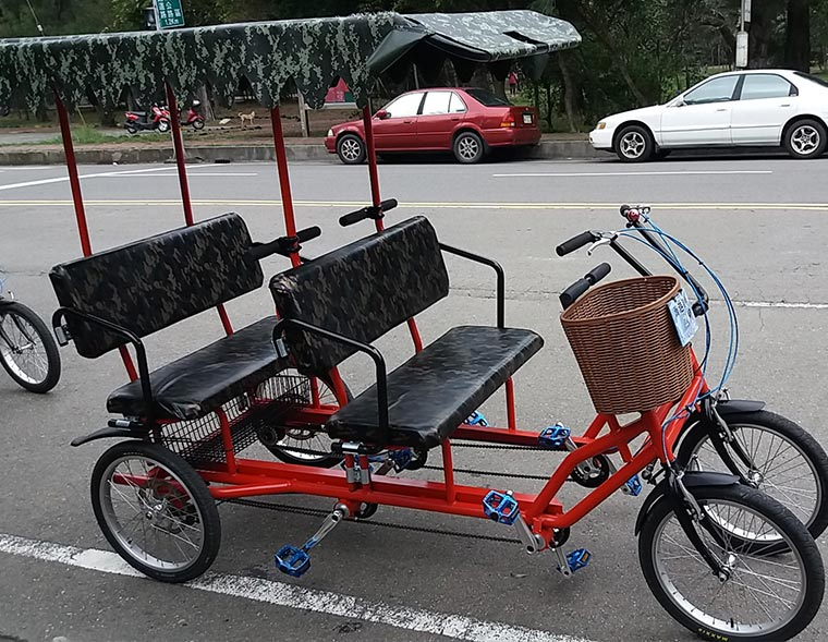 Bicycle Tourist Cart 4 person style
