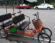 Electric rickshaw for 4 people