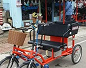Electric rickshaw for lovers